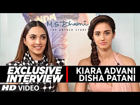 EXCLUSIVE Interview With The Disha Patani Kiara Advani In This Video They Talks About Their Upcoming Film MS Dhoni Untold Story And