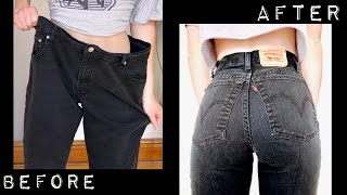 How To Take In OVERSIZED Jeans | 3 🅔🅐🅢🅨 Thrift Flips