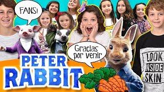 Invitamos a 200 FANS al preestreno de la película PETER RABBIT, hacemos un meet&greet con ellos y vemos la película juntos!!   #PeterRabbitLaPelícula de SONY PICTURES *ESTRENO EN CINES EL 23 DE MARZO DE 2018*  CANALES AMIGOS EN EL PREESTRENO:  - The Crazy Haacks: https://goo.gl/6wpGtI - Lady Pecas: https://goo.gl/1R2ejG - Hoy no hay cole: https://goo.gl/Zf8Y4U - Mon para los amigos: https://goo.gl/6Mvh8c - El Mundo de Clodett: https://goo.gl/ubg2jZ - La Vida de Clodett: https://goo.gl/EEkFHy - Factoria de Diversión: https://goo.gl/97C645 - Karina & Marina: https://goo.gl/TiUehp - El rincón de Ani: https://goo.gl/FG4v2W - Divertiguay: https://goo.gl/Zfm5PU - Silvia Sanchez: https://goo.gl/nrGYW1 - Los juguetes de Arantxa: http://goo.gl/q5T98F - 1000 experiencias: https://goo.gl/ukEQSz