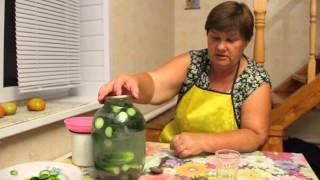 Необычный способ засолки огурцов.Засолка огурцов. Рецепт соленых огурцов.