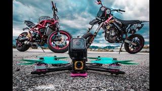 FPV drone vs Stunt bike |Marco Pasqualini stuntrider|