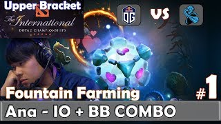 Ana - IO Gameplay | COMBO with Bristleback (Topson) | Fountain Farming | OG vs Newbee Game 1 | TI9