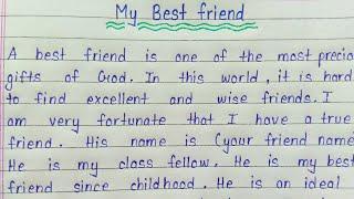 Write an essay on my best friend in english || Essay writing