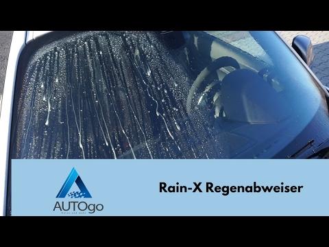 Rain-X Test Deutsch Regenabweiser auf der Windschutzscheibe