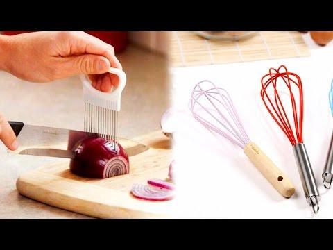 Товары для кухни из Китая (Aliexpress). Силиконовый венчик и держатель для нарезки лука