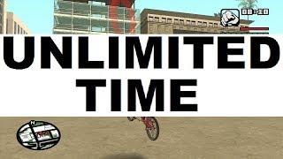 GTA San Andreas BMX Challenge Disappearing Clock Trick/Glitch - Video #1