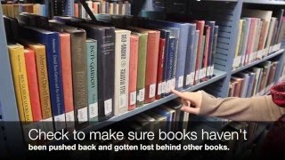 How To Straighten Library Shelves