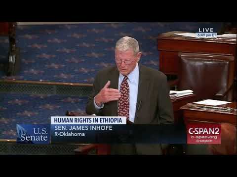Remarks by Senator Inhofe about the Strategic Relationships between Ethiopia and the United States