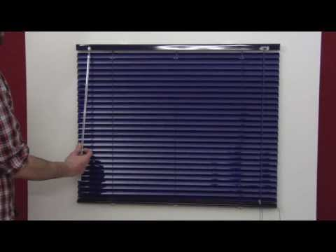 Montaje de Persiana Veneciana de Aluminio y PVC. Losestores.com