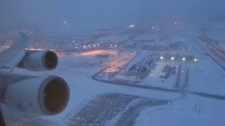 KLM 747-400 - O'hare to Amsterdam Takeoff After Snow Storm | Kholo.pk