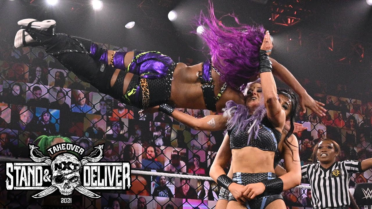 """Ember Moon And Shotzi Blackheart Vs. The Way At """"Takeover: Stand And Deliver"""" Night Two"""