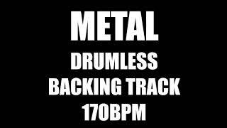 Metal Drumless Backing Track 170BPM No Drums