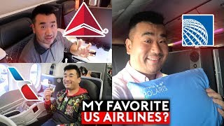 My FAVORITE US Airlines? American vs Delta vs United
