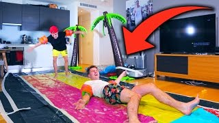 Download Video EXTREME INDOOR SLIP 'N' SLIDE (GONE WRONG) MP3 3GP MP4