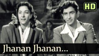 Jhanan Jhanan Ghungharwa Baje - Raj Kapoor - Nargis - Aah