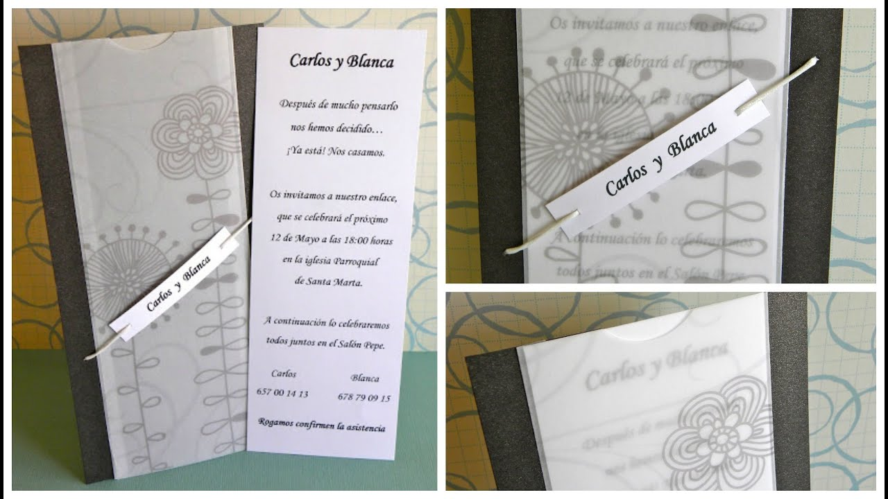 Wedding invitation - Invitación boda