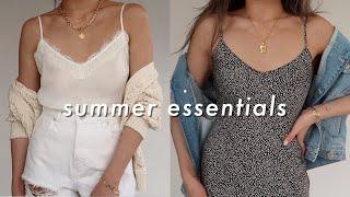 10 BASICS Every Woman Should Have (SUMMER)   Wardrobe Essentials summer lookbook   Miss Louie