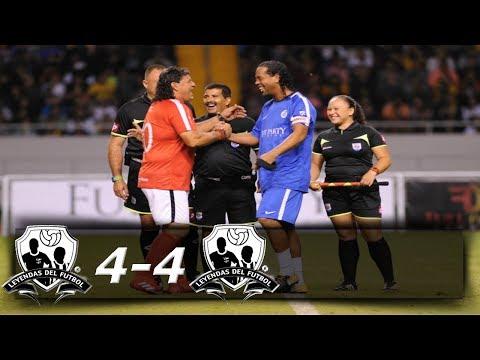 Ronaldinho en Costa Rica│Galacticos vs. Leyendas 4-4│Resumen Completo HD│05/08/2017.
