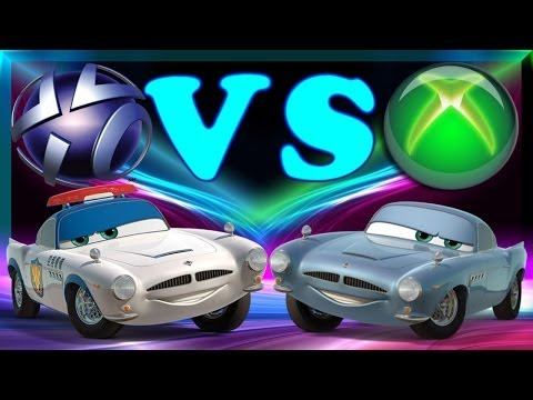 Cars 2 Amazing Side By Side Gameplay Comparison PS3 Versus Xbox 360 Finn McMissile - 2014