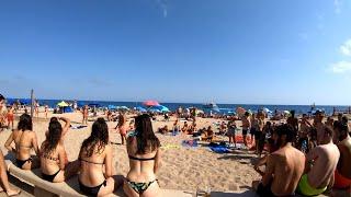 ⁴ᴷ Walking Lloret De Mar Beach, Costa Brava, Spain 4K