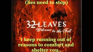 32 Leaves -Your Lies (lyrics) HD