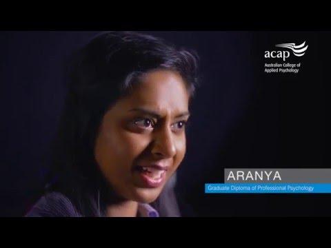 Aranya's ACAP study journey – Graduate Diploma of Professional Psychology