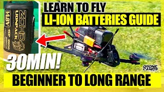 Flying Li-Ion Batteries to get 30 Minute flights with an FPV Drone - Flights, Tips, & Betaflight