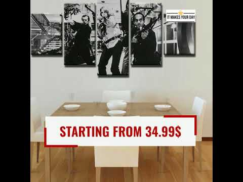 5 Piece Dawn of the Dead Movie Canvas Wall Art Paintings