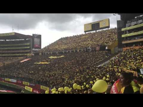 """Barcelona S.C vs. LDUQ, majestuosa hinchada en la goleada histórica del 5-0"" Barra: Sur Oscura • Club: Barcelona Sporting Club"