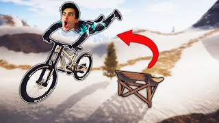 JUMPING OFF THE CRAZIEST BIKE RAMPS! (Descenders)