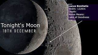 Tonight's Moon 18th December 2020 - A look at some lunar features