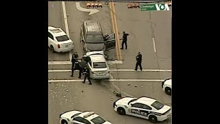 Cuộc rượt đuổi náo loạn đường phố Houston (VOA)