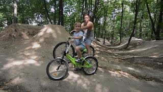 ВЛОГ Трамплины / Падения / Катаемся на велике / Dangerous jumps / Ride a bike