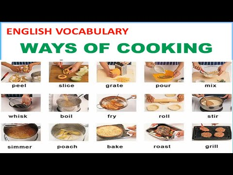 Download Ways of Cooking Vocabulary with Pictures, Pronunciations and Definitions - Lesson 12 Mp4 HD Video and MP3