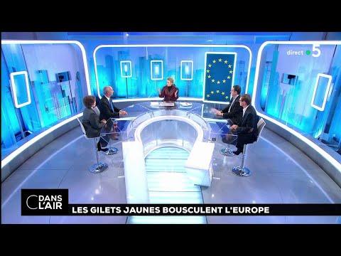 Les Gilets jaunes bousculent l'Europe #cdanslair 13.12.2018