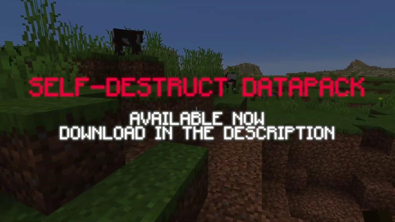 [1.15] Self-Destruct Data Pack MINECRAFT DATAPACK