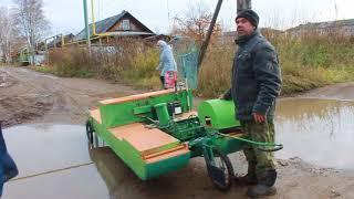 Вятский рыбак кулибин и его самодельная электрическая лодка амфибия для рыбалки