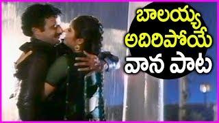 Balakrishna And Divya Bharti Rain Song - Muddutho Srungara Beetu - Dharma Kshetram Movie