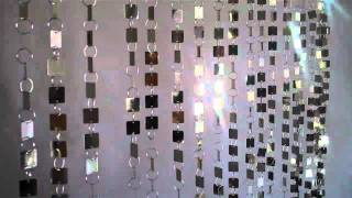 Beaded Curtain - Shimmy Metallic Gold Or Silver