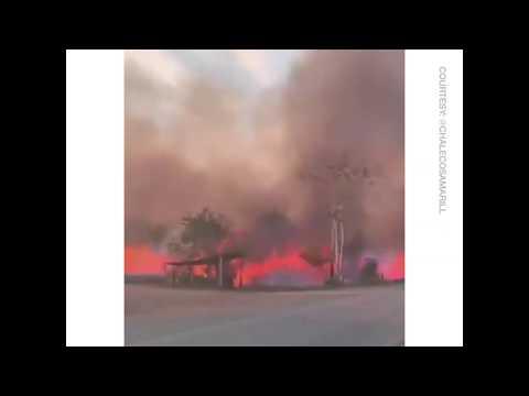 Amazon Fire Black Smoke Blocks out Sunlight in Sao Paulo