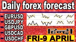 ( 9 APRIL ) daily forex forecast | EURUSD | USDJPY | GPBUSD | USDCAD | USDCHF | forex | Hindi |