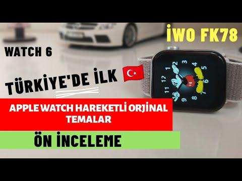 İwo FK78 Apple Watch 6 Süper Klon (Hareketli Temalara Bayılacaksınız) TR' de İLK 🇹🇷 fk78 Smartwatch