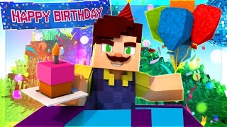 HELLO NEIGHBOR - SECRET SURPRISE BIRTHDAY PARTY! (Minecraft Roleplay)