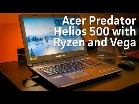 Acer Predator Helios 500 with Ryzen and Vega plus benchmarks