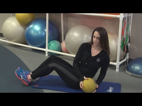 Dumbbell Russian Twist (on stability ball)