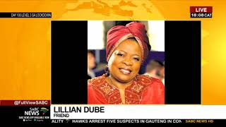 Lillian Dube pays tribute to her late friend Mary Twala Mhlongo