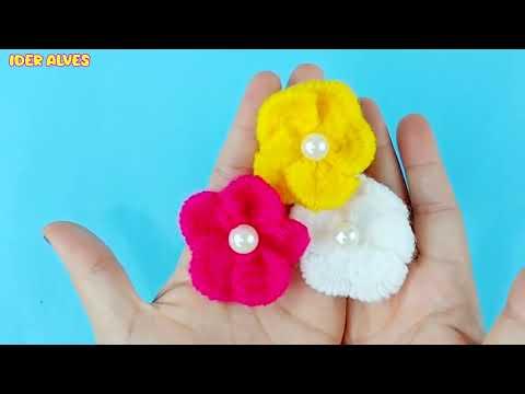 Flor super fácil com garfo