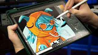 My IPAD PRO just became a DRAWING TABLET for my PC! (Duet Display Review!)