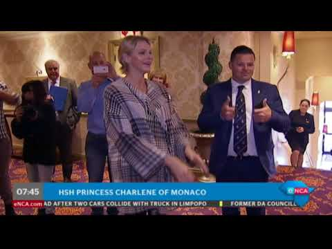 Princess Charlene in SA to celebrate Madiba centenary