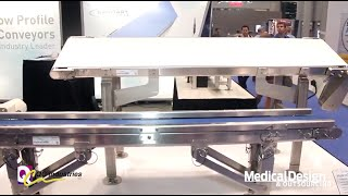 QC Industries Demos Easy-to-disassemble, Easy-to-clean Conveyor
